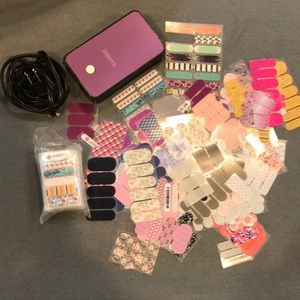 Jamberry heater with over 40 partial sheets!